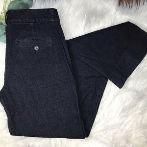 Banana Republic Logan Denim Dark Wash Trousers